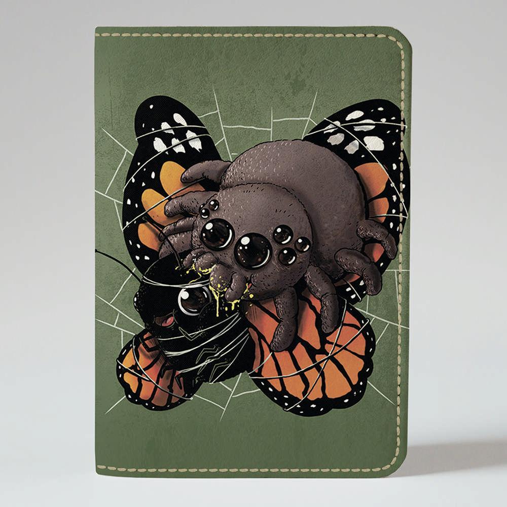 Обложка на паспорт Fisher Gifts 944 Паук и бабочка (эко-кожа)