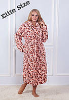Женский длинный халат из бамбука в больших размерах 61924