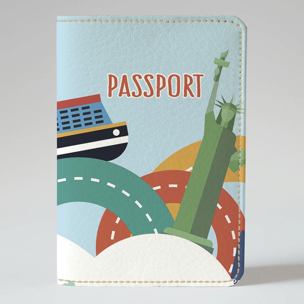 Обложка на паспорт Fisher Gifts 951 Мультяшное путешествие (эко-кожа)