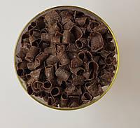 """Декор из бельгийского шоколада """"Завиток темный"""" 100 г."""