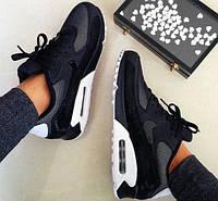 b5482fb4 Кроссовки найк женские черные Nike Air Max 90 Premium Black/White