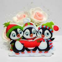 Клеевой декор, кабошон Пингвины, 4,5 х 3 см