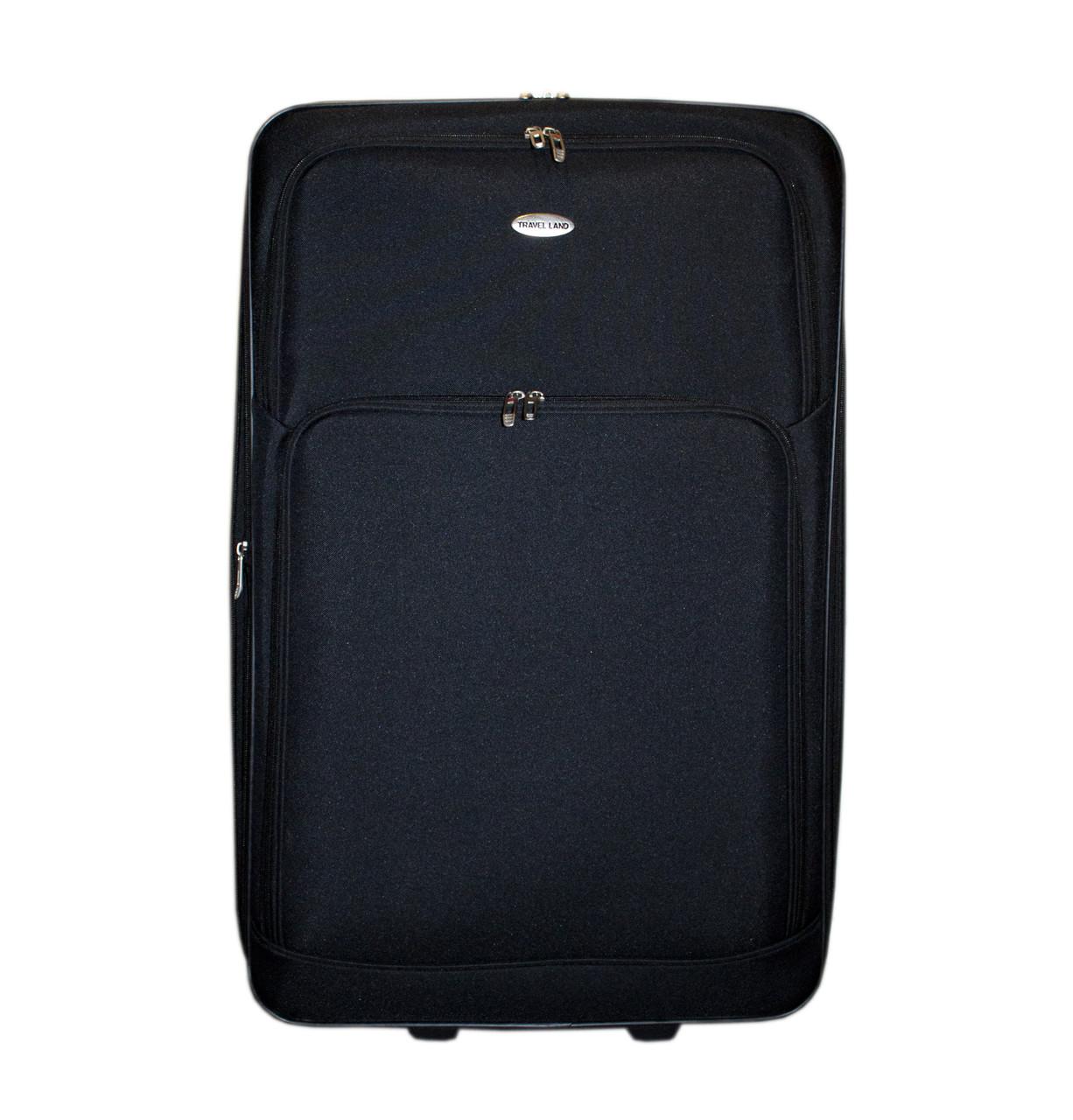 Дорожный чемодан 2 колеса (большой) чёрный, артикул: 12126-50