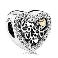 Подвеска «Признание в любви» в стиле Pandora