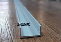 П профиль алюминиевый анод серебро, 20х10х1.5