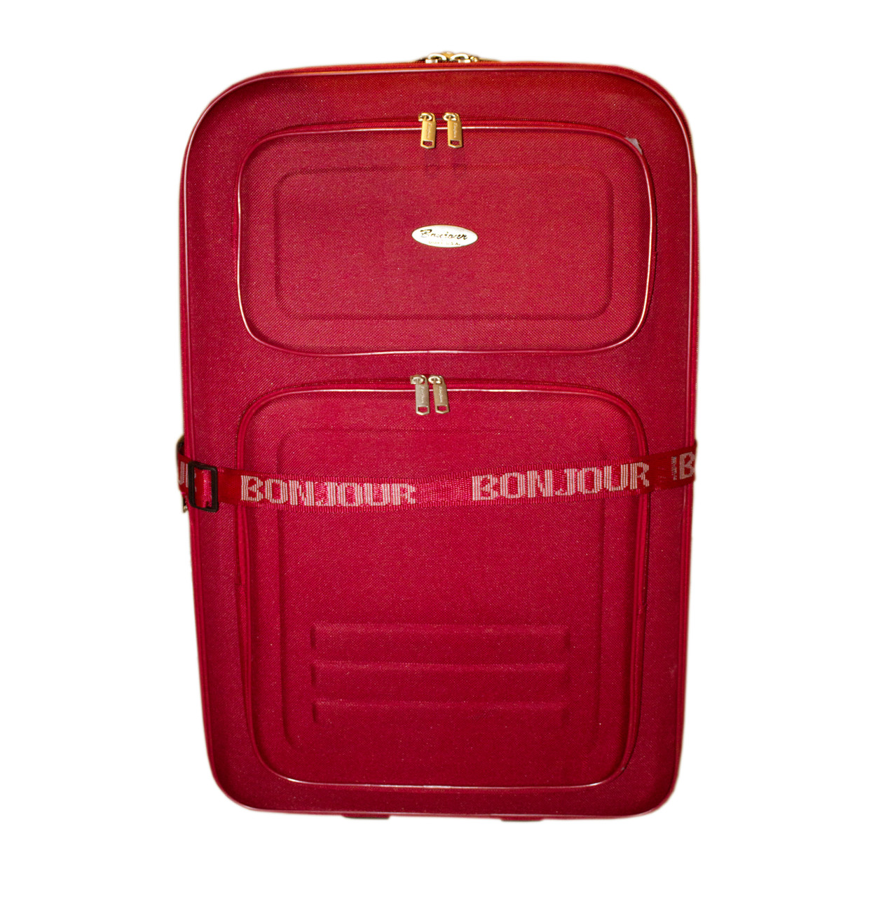 Дорожный чемодан 2 колеса (средний) красный, артикул: 12126-9380