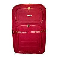 Дорожный чемодан 2 колеса (средний) красный, артикул: 12126-9380, фото 1