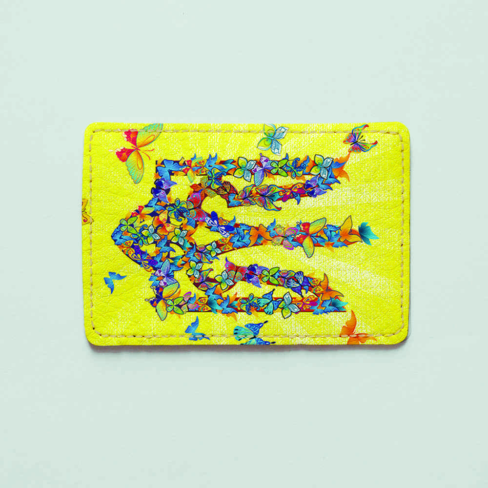 Картхолдер v.1.0. Fisher Gifts  57 Герб из бабочек (эко-кожа)
