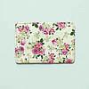 Обложка для id паспорта, карты, автодокументов 1.0 Fisher Gifts  75 Весенние розы фон (эко-кожа)