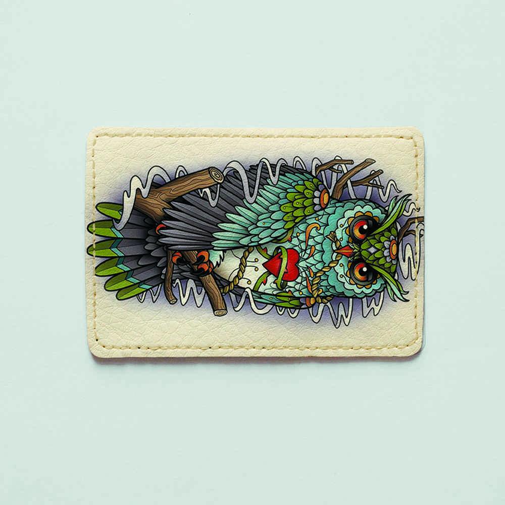 Картхолдер v.1.0. Fisher Gifts  98 Сова на ветке (эко-кожа)
