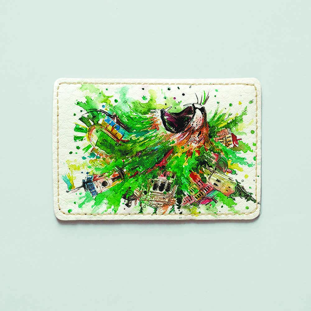 Картхолдер v.1.0. Fisher Gifts  129 Креативный лев (эко-кожа)