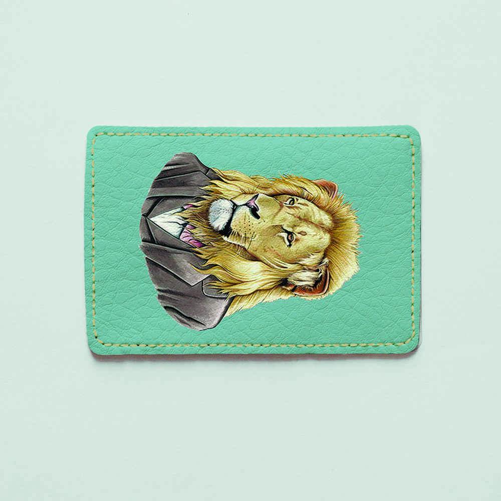 Картхолдер v.1.0. Fisher Gifts  130 Джентельмен лев (эко-кожа)
