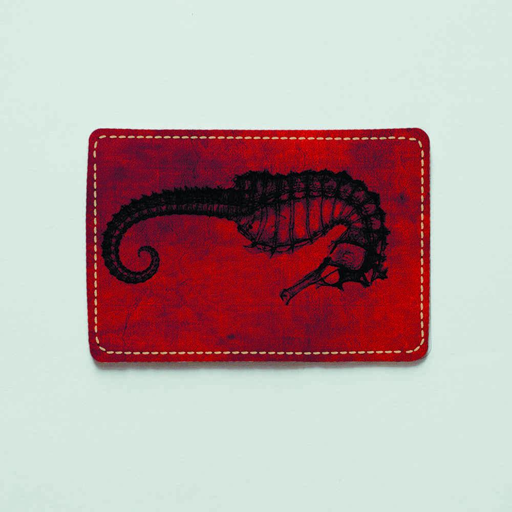Картхолдер v.1.0. Fisher Gifts  138 Морской конёк (эко-кожа)