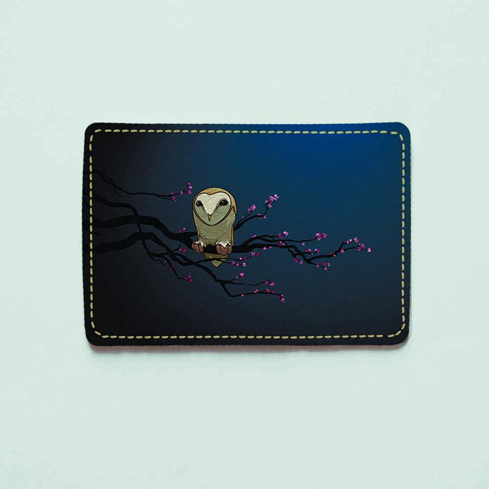 Картхолдер v.1.0. Fisher Gifts  143 Сидящая сова=) (эко-кожа)