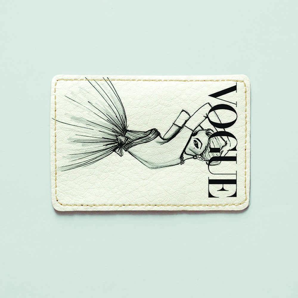 Картхолдер v.1.0. Fisher Gifts  151 Девушка VOGUE 9 (эко-кожа)