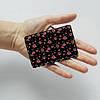 Картхолдер v.1.0. Fisher Gifts  172 Красные розочки фон (эко-кожа), фото 3