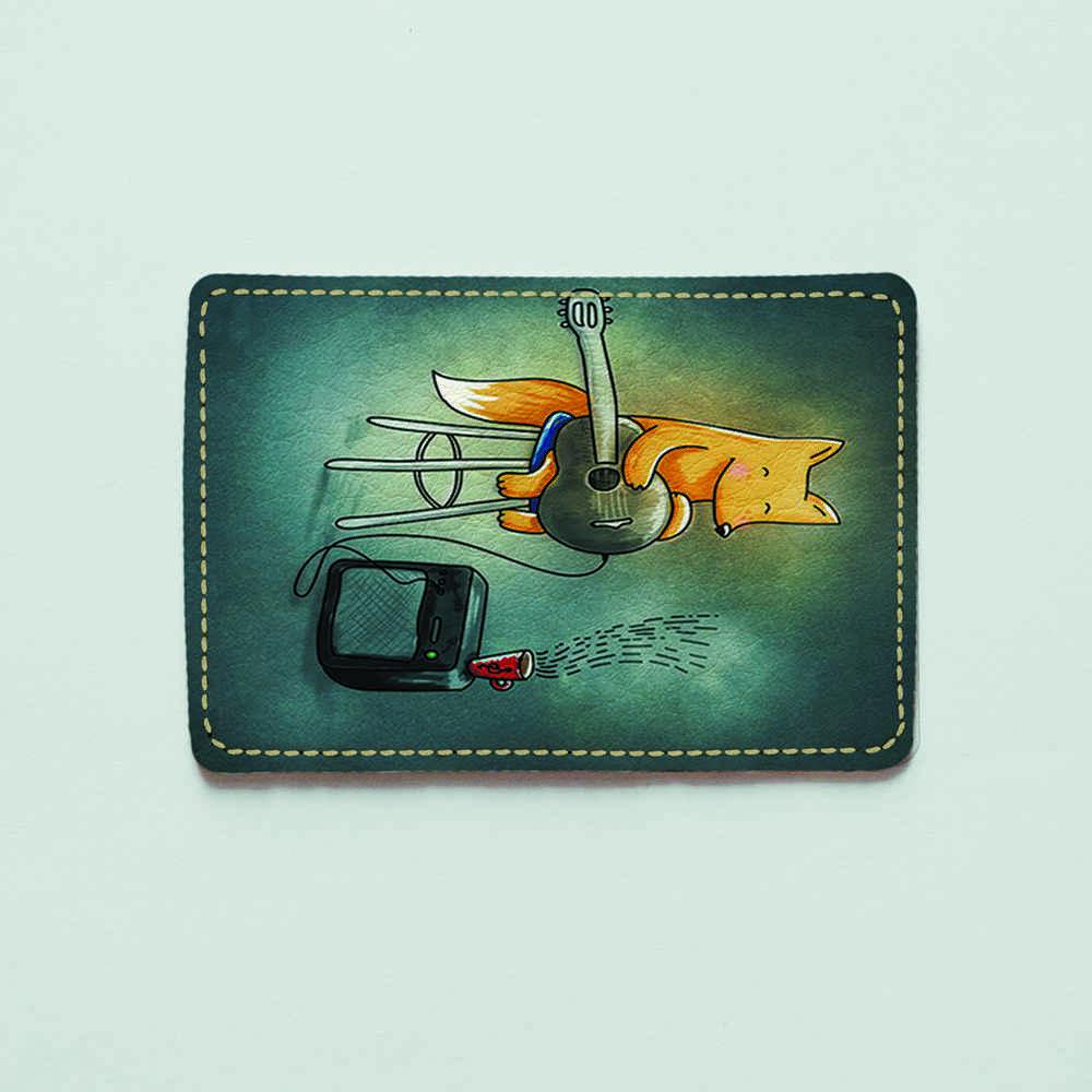 Картхолдер 1.0 Fisher Gifts 180 Лисичка з гітарою (еко-шкіра)