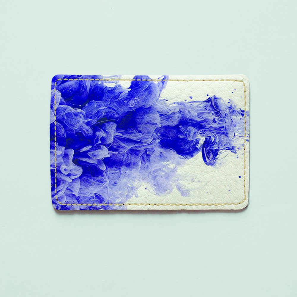 Картхолдер v.1.0. Fisher Gifts  184 Фиолетовая абстракция (эко-кожа)
