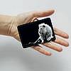Картхолдер v.1.0. Fisher Gifts  190 Белый лев в темноте (эко-кожа), фото 3