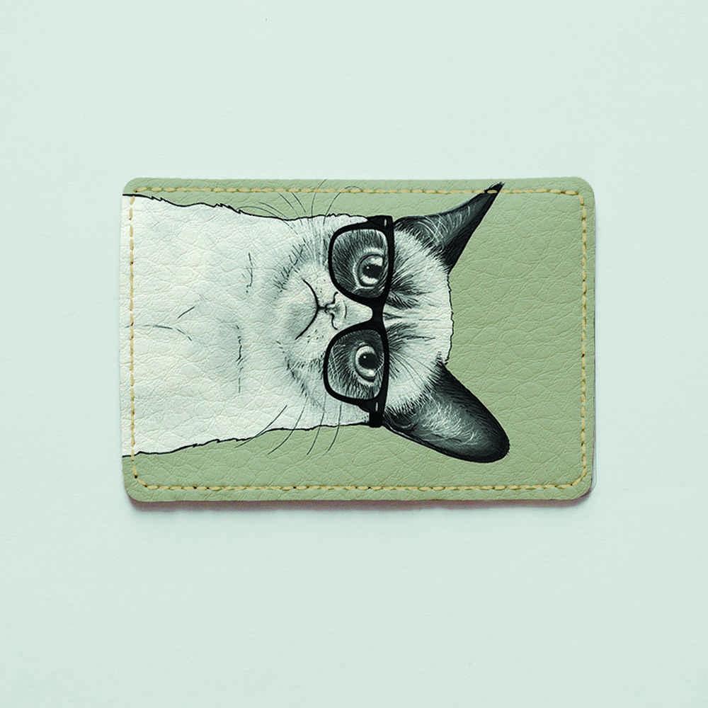 Картхолдер 1.0 Fisher Gifts 191 Унылый кот (эко-кожа)