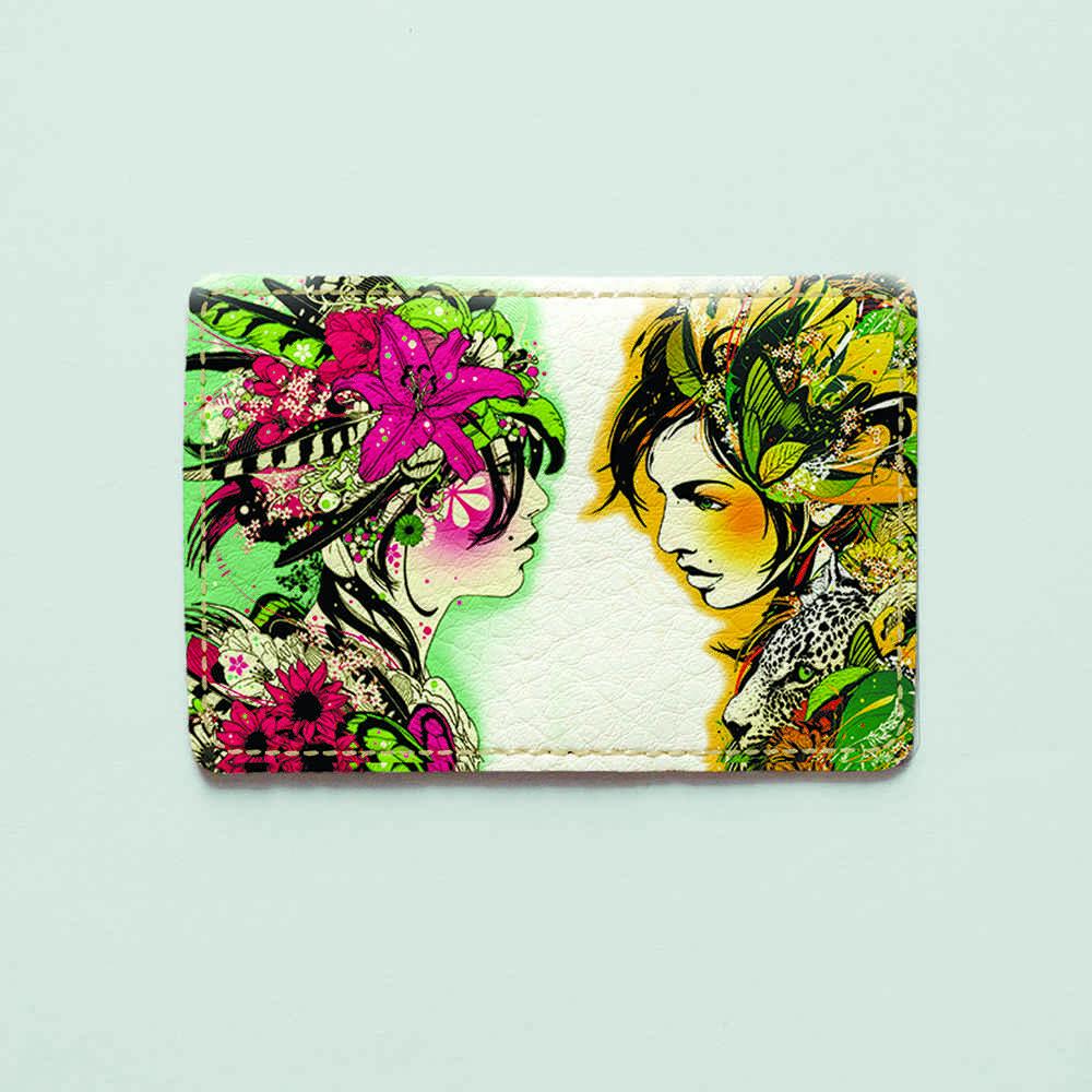 Картхолдер v.1.0. Fisher Gifts  205 Девушки с цветов (эко-кожа)