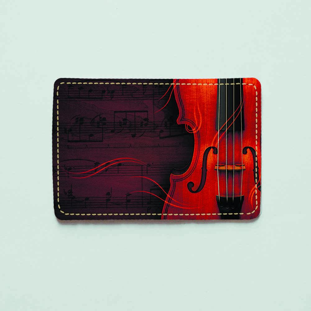 Картхолдер v.1.0. Fisher Gifts  208 Скрипка (эко-кожа)