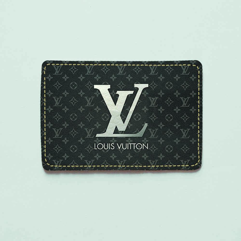 Картхолдер v.1.0. Fisher Gifts  215 Lui Vuitton серый (эко-кожа)