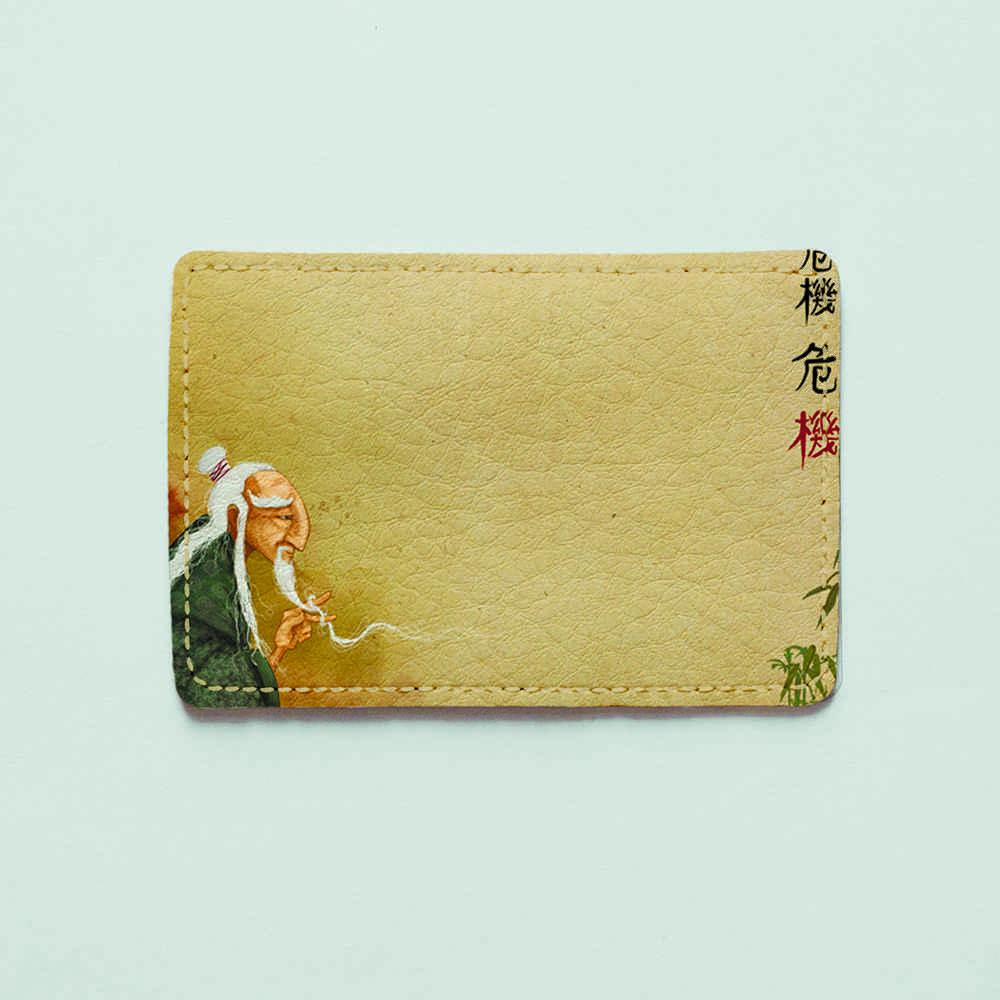 Картхолдер v.1.0. Fisher Gifts  217 Мудрый старец (эко-кожа)