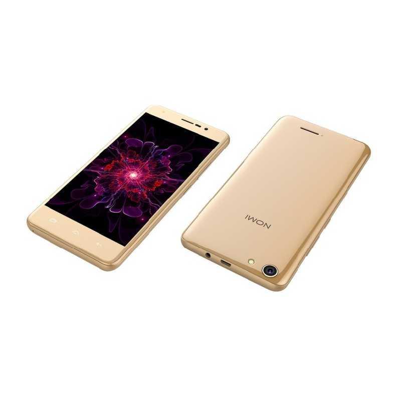 Смартфон на 2 сим карты 5,5 дюймов 4 ядра 1/16Gb Nomi i5510 Space M золотой