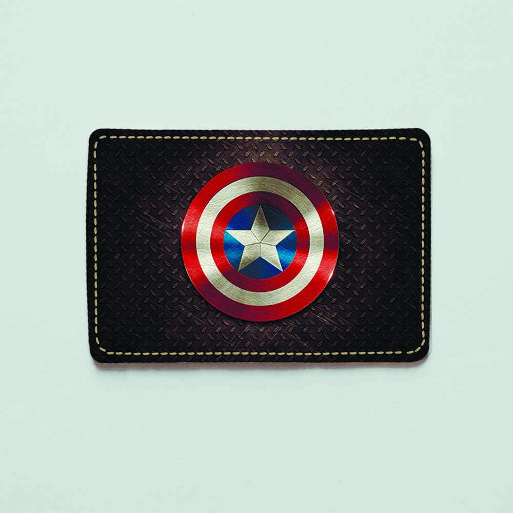 Картхолдер v.1.0. Fisher Gifts  226 Капитан Америка (эко-кожа)