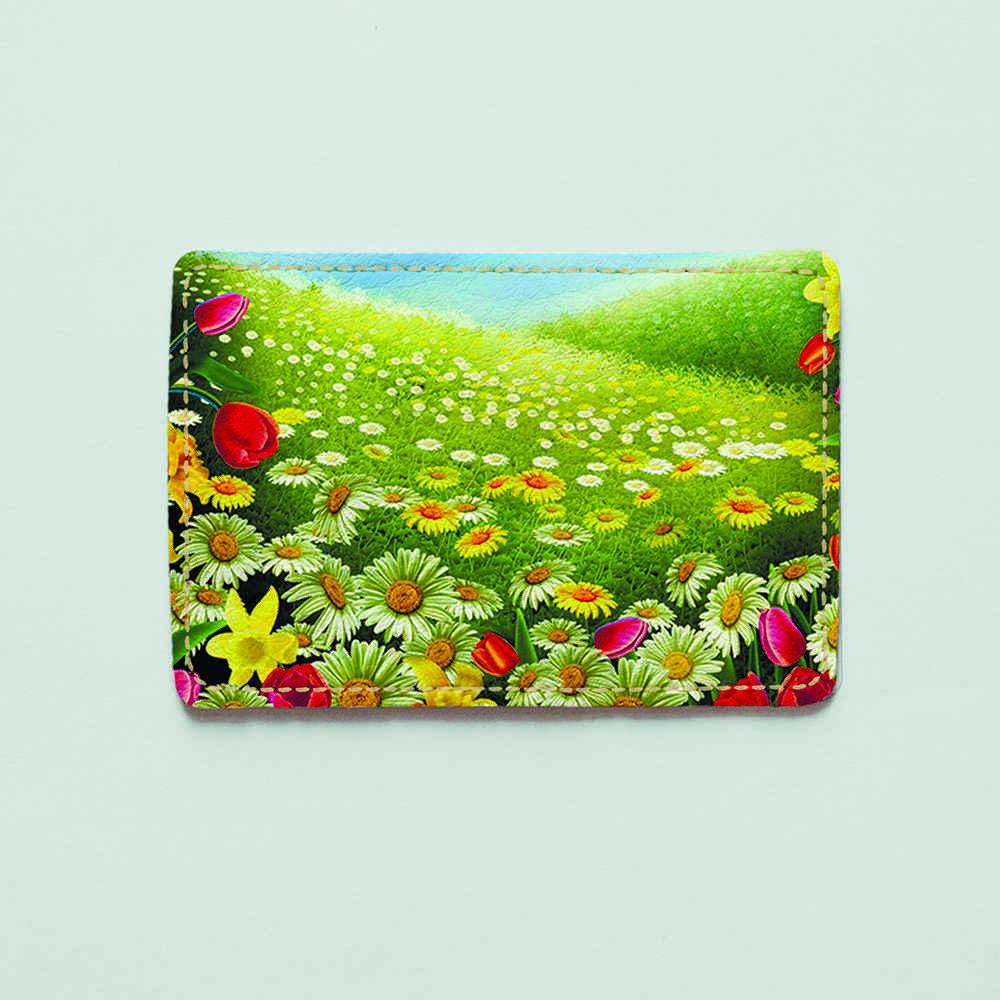Картхолдер v.1.0. Fisher Gifts  240 Полянка цветов (эко-кожа)
