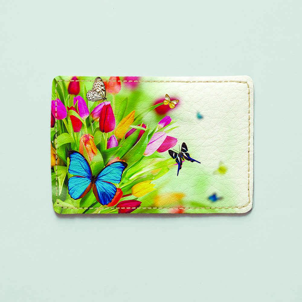 Картхолдер v.1.0. Fisher Gifts  248 Бабочка в цветах (эко-кожа)