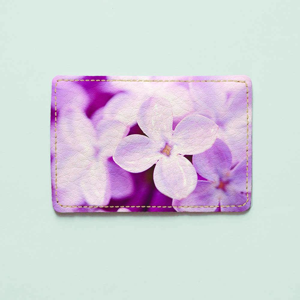 Картхолдер v.1.0. Fisher Gifts  251 Фиолетовый цветок счастья (эко-кожа)