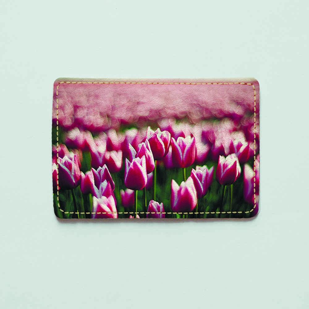 Картхолдер v.1.0. Fisher Gifts  255 Тюльпаны в поле (эко-кожа)