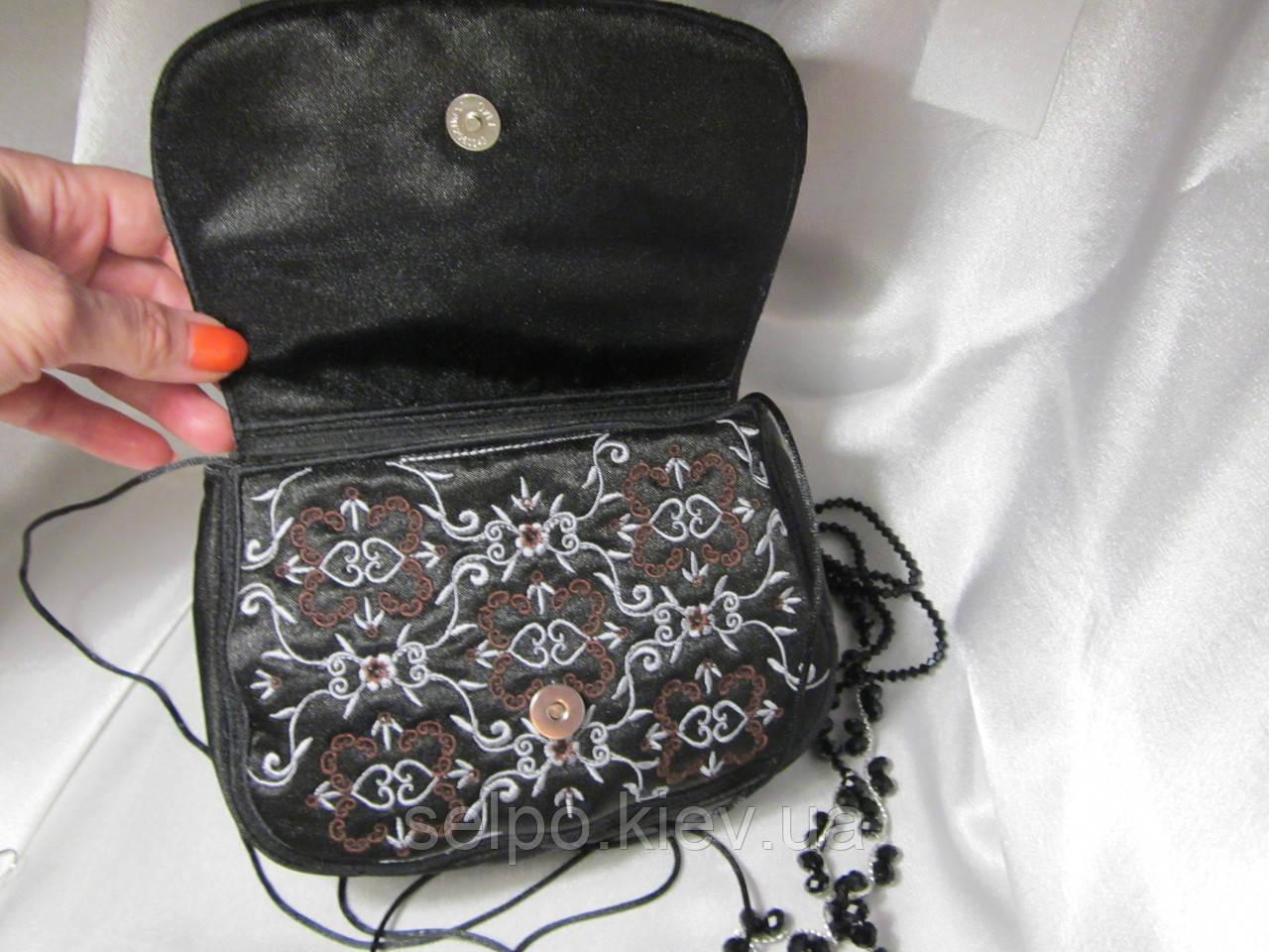 Клатч,сумочка, ярко-розовая. черный