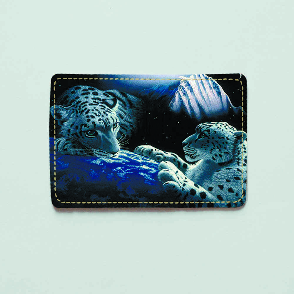 Картхолдер 1.0 Fisher Gifts 275 Космический гепард (эко-кожа)