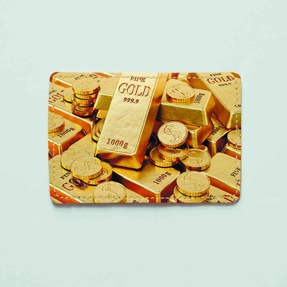 Картхолдер v.1.0. Fisher Gifts  277 Золотые деньги (эко-кожа)