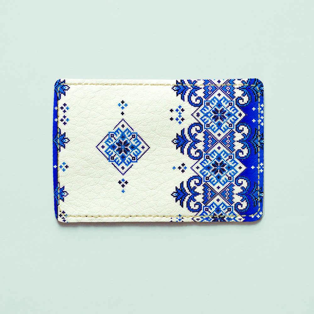 Обложка для id паспорта, карты, автодокументов 1.0 Fisher Gifts  293 Триполье синие (эко-кожа)