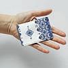 Обложка для id паспорта, карты, автодокументов 1.0 Fisher Gifts  293 Триполье синие (эко-кожа), фото 3
