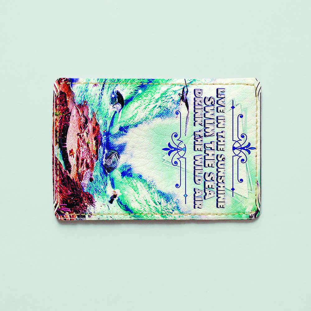 Картхолдер v.1.0. Fisher Gifts  297 Шторм в море (эко-кожа)