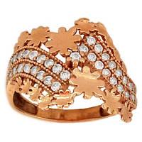Золотое кольцо цветы с фианитами  18.0   4903