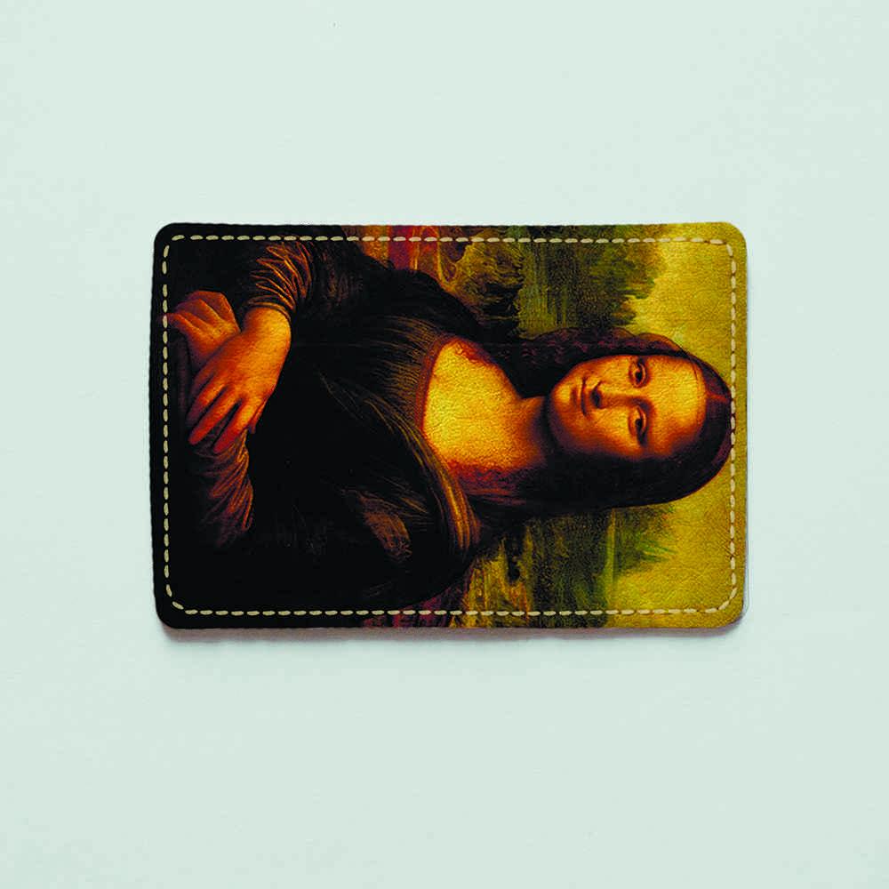 Картхолдер v.1.0. Fisher Gifts  304 Мона Лиза. Леонардо да Винчи (эко-кожа)