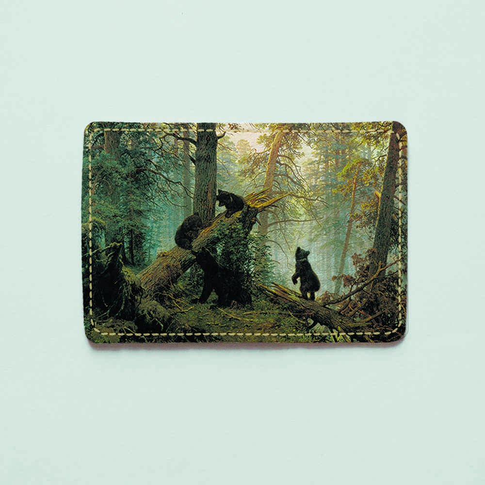 Картхолдер v.1.0. Fisher Gifts  306 Утро в сосновом лесу. Шишкин (эко-кожа)