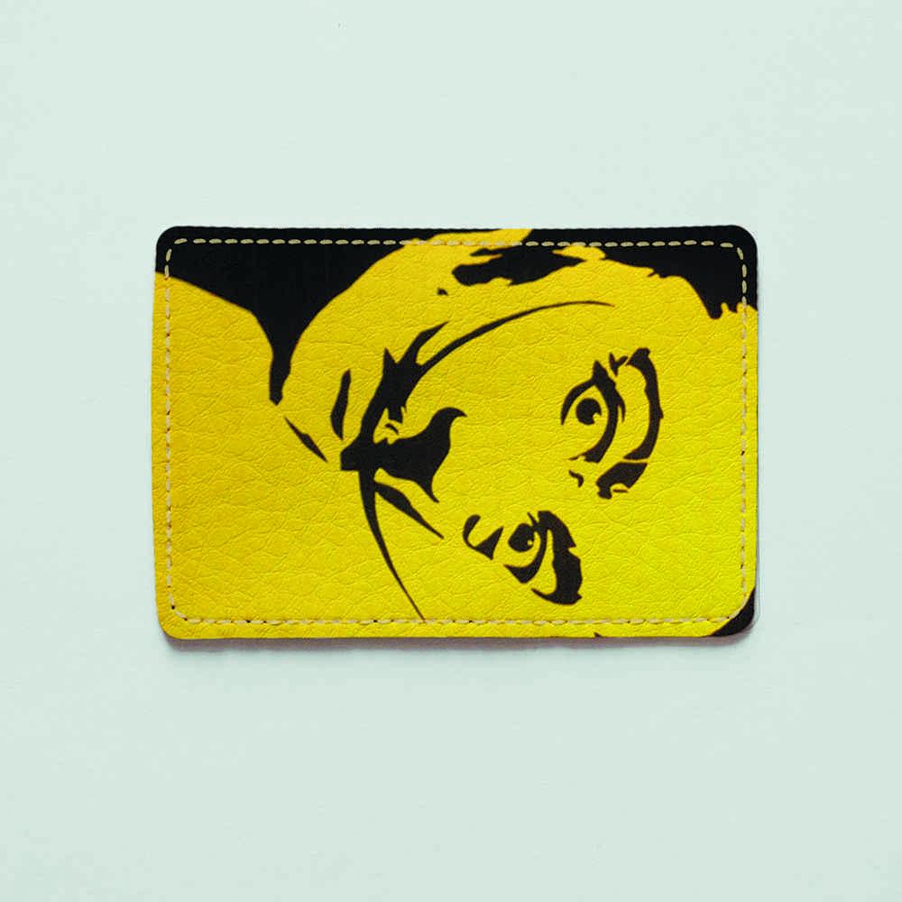 Обложка для id паспорта, карты, автодокументов 1.0 Fisher Gifts  318 Сальвадор Дали желтый (эко-кожа)