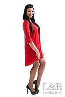 """Платье большого размера """"FREESTYLE"""" красный"""