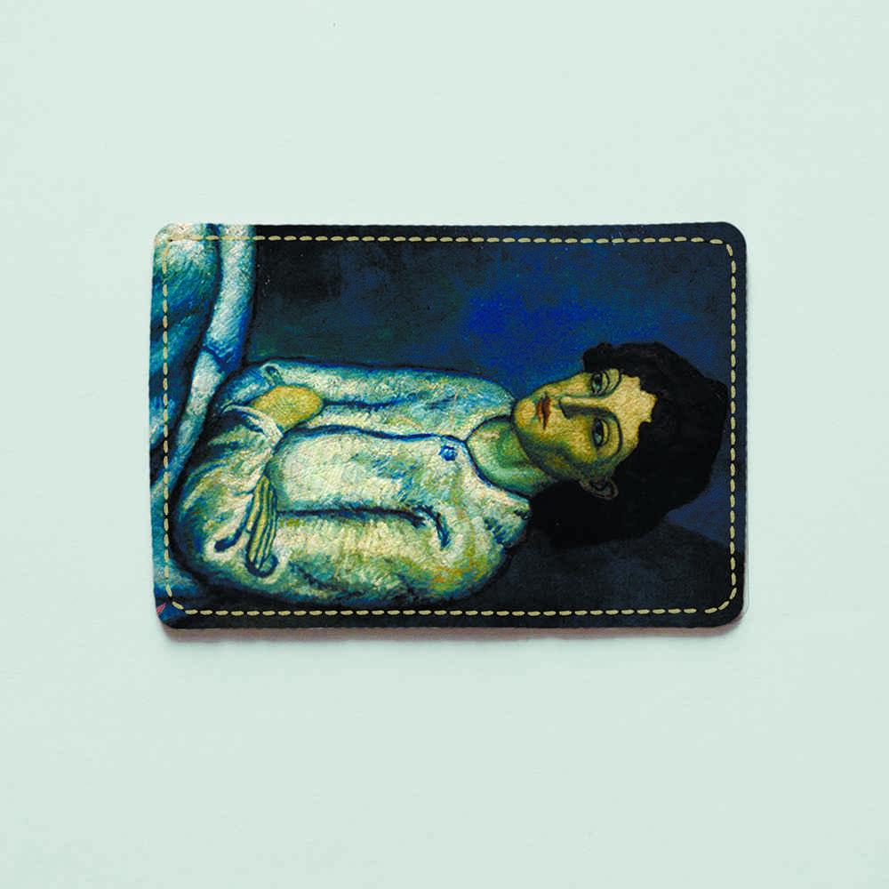 Картхолдер v.1.0. Fisher Gifts  323 Женщина со скрещенными руками. Пабло Пикассо (эко-кожа)