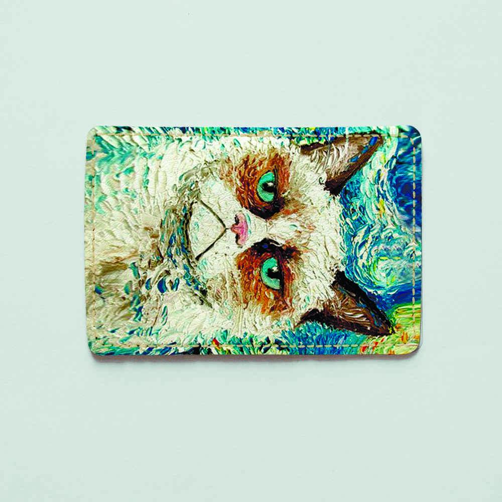 Картхолдер v.1.0. Fisher Gifts  341 Кот Ван Гог (эко-кожа)