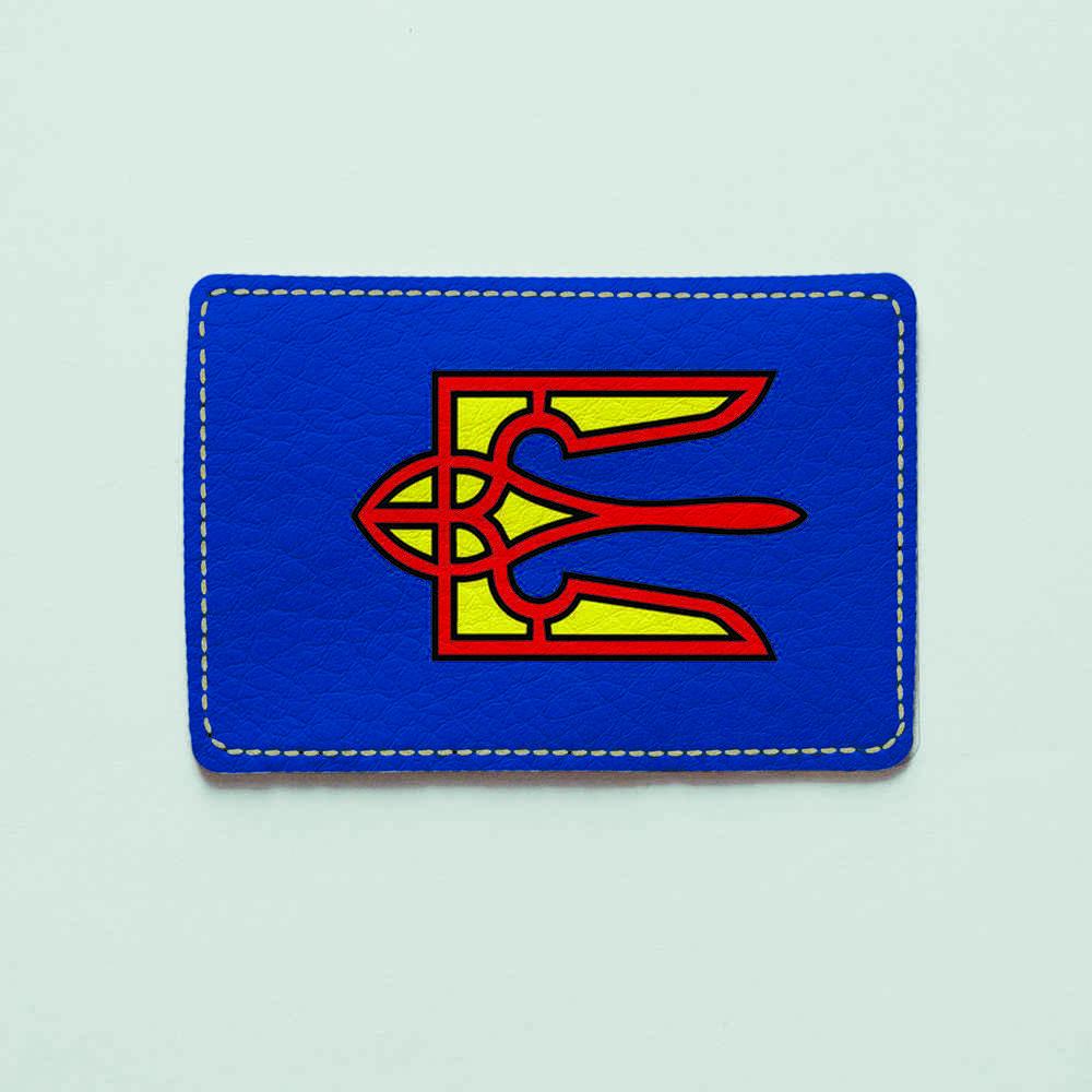Картхолдер v.1.0. Fisher Gifts  354 Герб супермен (эко-кожа)