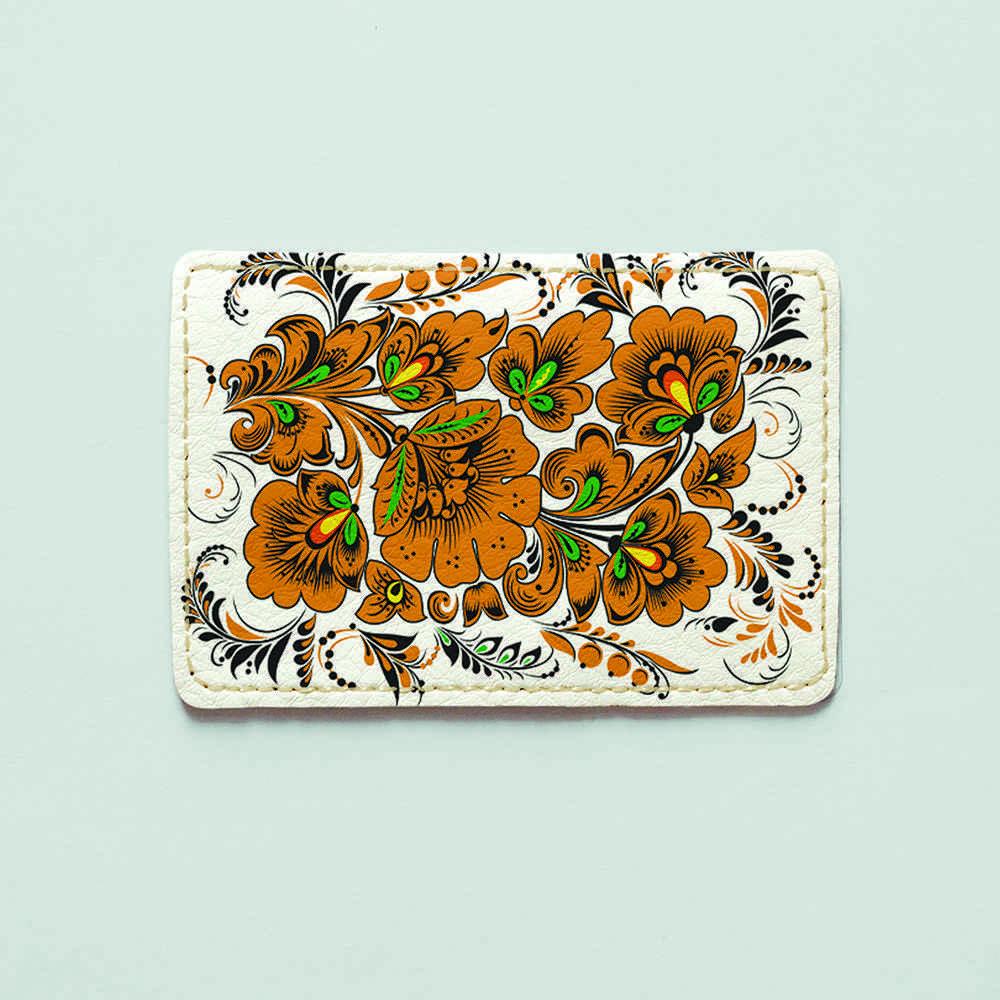 Картхолдер v.1.0. Fisher Gifts  364 Петриковский огнецвет (эко-кожа)