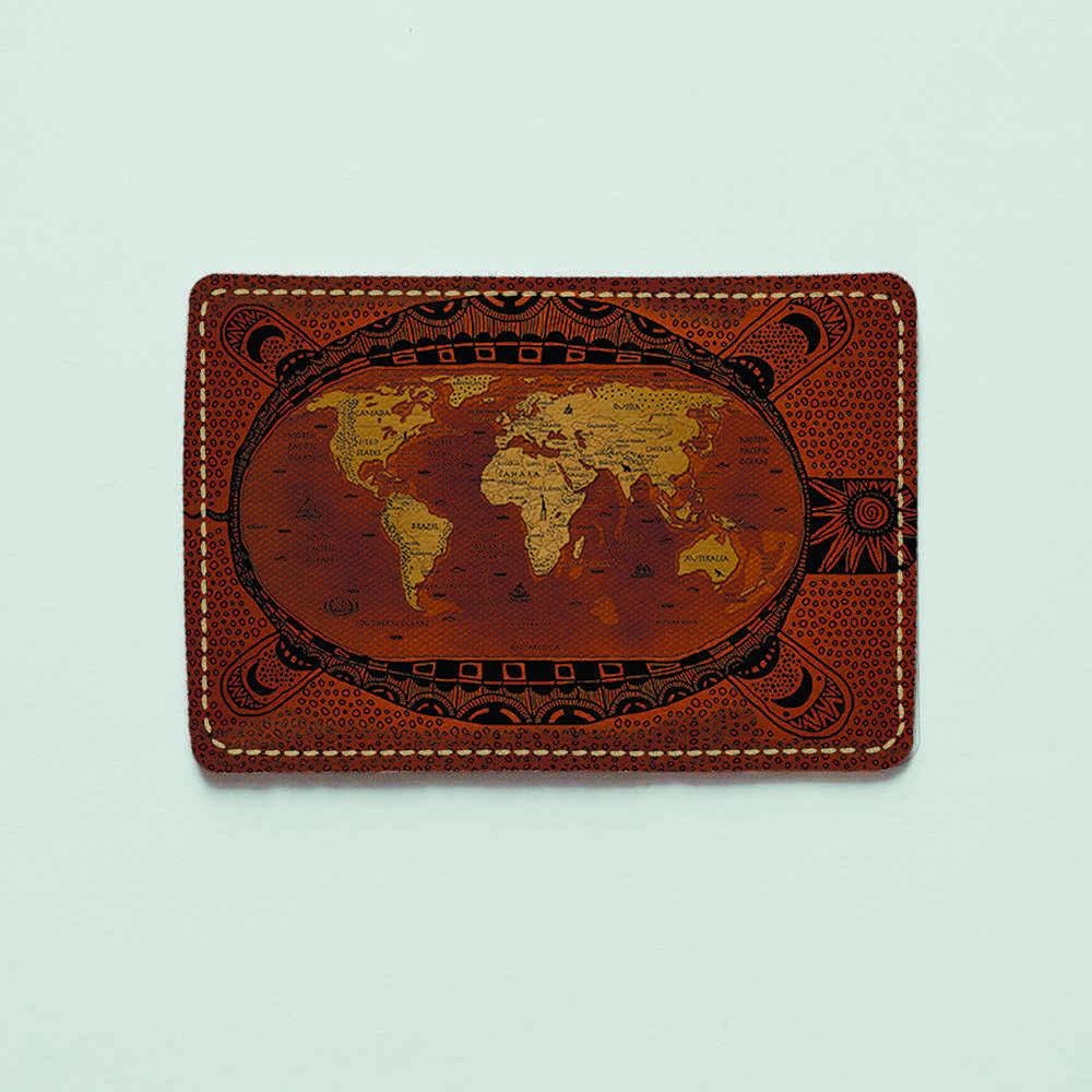 Картхолдер v.1.0. Fisher Gifts  373 Черепаха мира (эко-кожа)